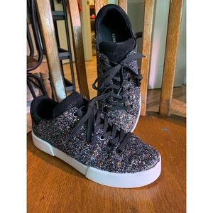 Kenneth Cole glittery sneakers